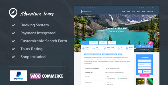 Adventure Tours v1.0.4 – WordPress Tour_Travel Theme