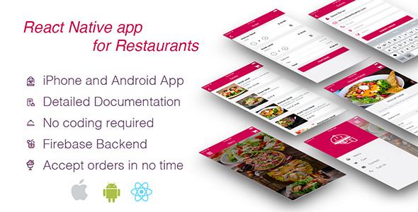 Restaurant App Template – React Native – Codecanyon 17652082 – CodeGood