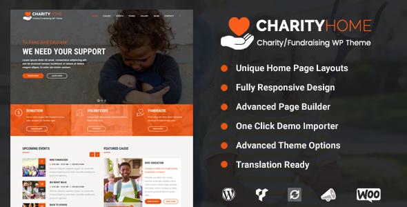 Charity Home - Charity_Fundraising WordPress Theme