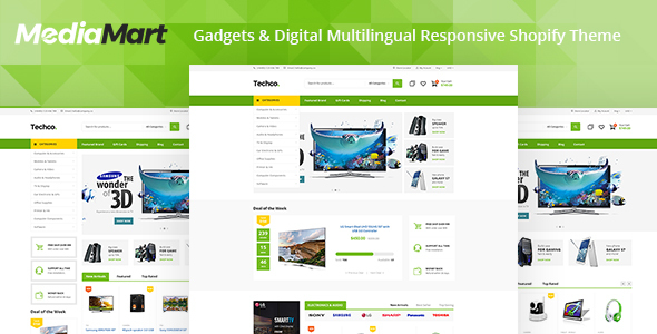 Electro v4 1 Gadgets & Digital Responsive Shopify Theme
