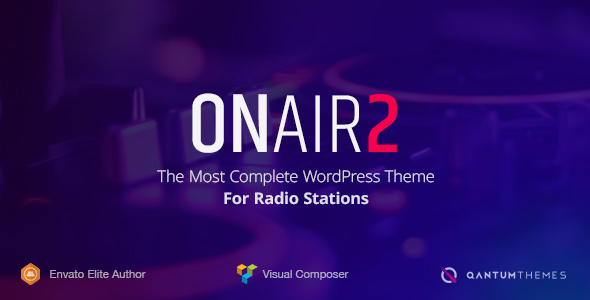 Onair2- Radio Station WordPress Theme