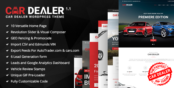 Car Dealer - The Best Car Dealer Automotive Responsive WordPress Theme