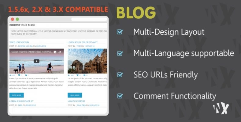 W Blog Clean and Responsive Design
