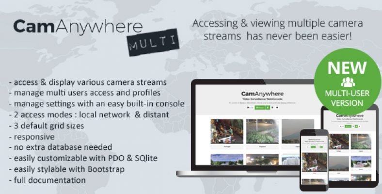 CamAnywhere Multi user Video Camera Surveillance WebConsole