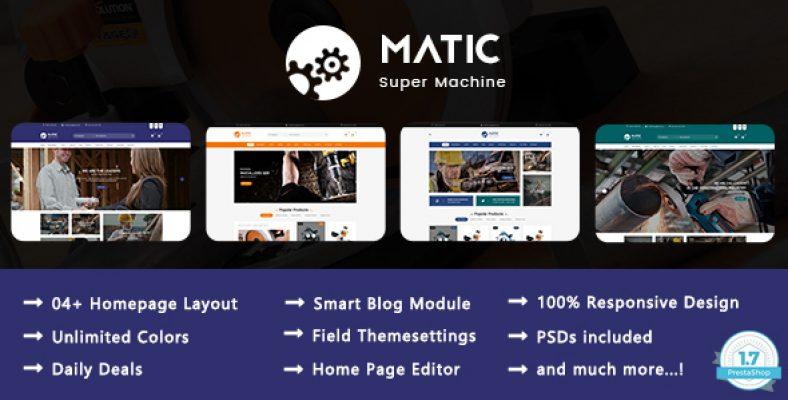 Matic Super Machine Responsive Prestashop 1.7 Theme