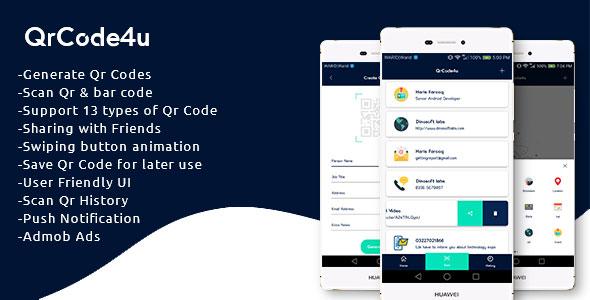 QrCode4u – Qr Code Generator + Scanner + Barcode Reader