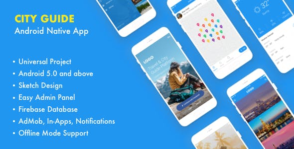 Trid – City Guide Android Native with Admin Panel, Firebase