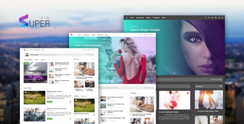 Superzin Responsive Blogging Magazine Blogger Template