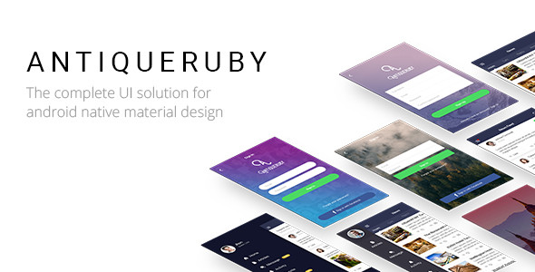 Antiqueruby - Android Material Design UI Components