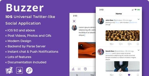 Buzzer | iOS Twitter-like Social Application