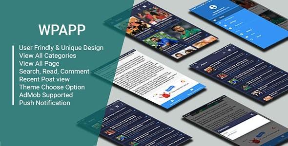 WP App - Wordpress Site App With Push Nitification & Admob