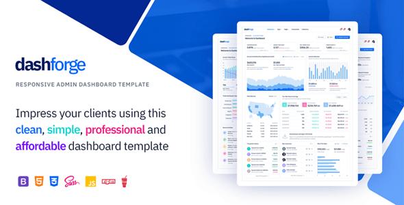 Dashforge Responsive Admin Dashboard Template