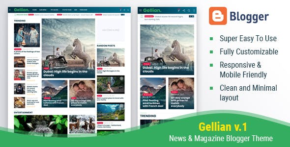 Mogtemplates Gellian News Magazine Blogger Theme