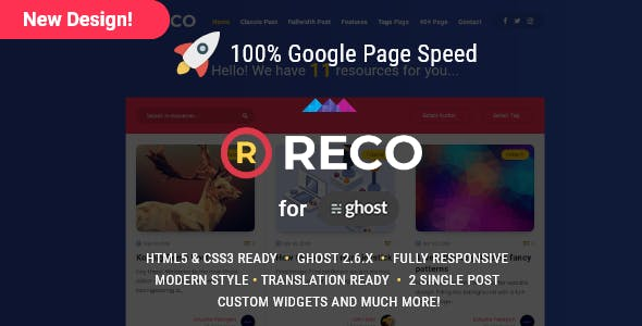 Reco A recopilatory theme for Ghost