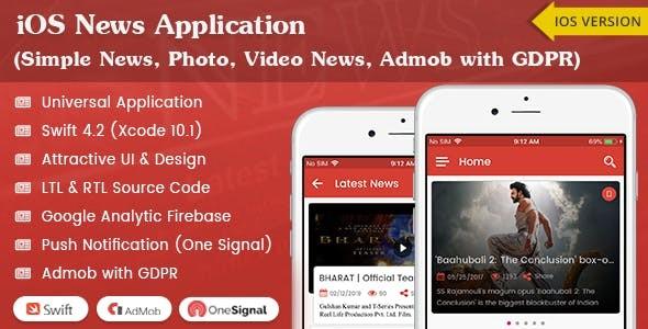 iOS News Application - Swift4