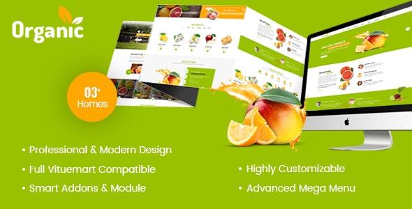 AmyOrganic Organic and Healthy Theme for Joomla