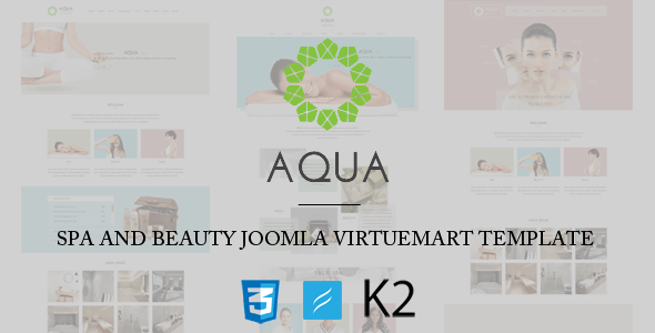 Aqua Spa and Beauty Joomla VirtueMart Template