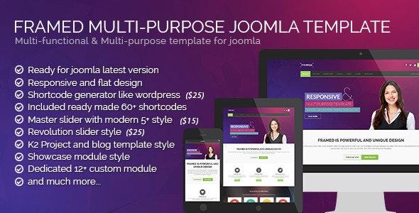 Framed Multipurpose Joomla Template