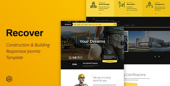 Recover Construction Building Dental Gym Transport Beauty Education Joomla Template