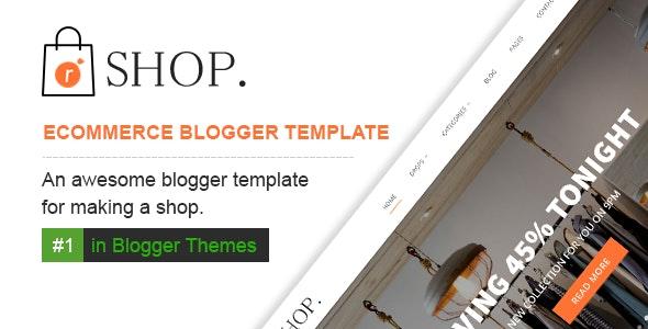 R shop Ecommerce Responsive Blogger Template