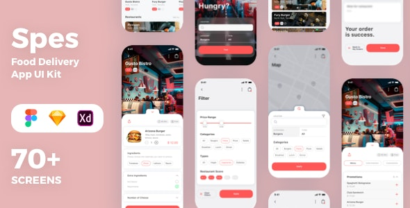 Spes Food Delivery App UI Kit