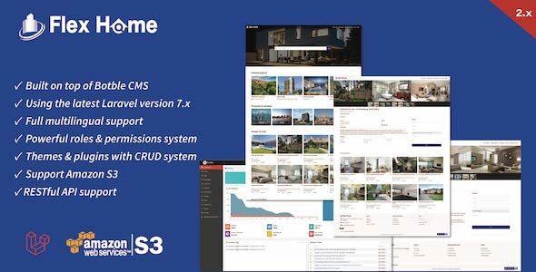 Flex Home Laravel Real Estate Multilingual System