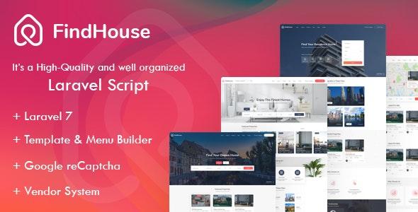 Findhouse Real Estate Laravel Script