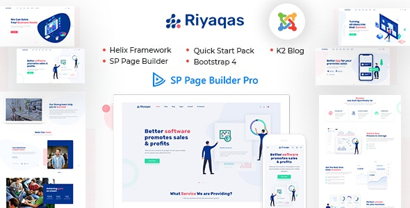 Riyaqas Creative Multipurpose Joomla Template