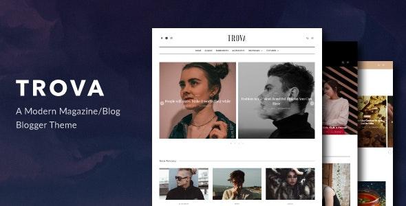Trova Modern BlogMagazine Blogger Theme
