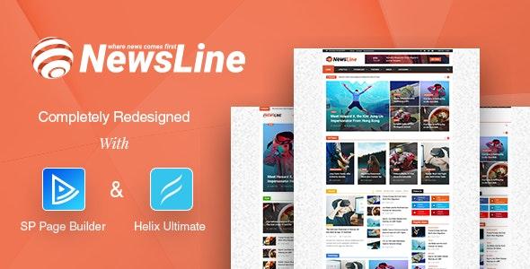 Newsline Responsive Magazine Joomla Template