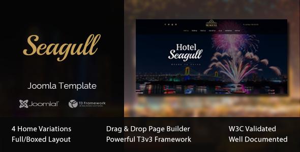 Seagull Hotel Resort Joomla Template