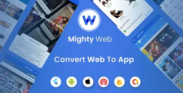 MightyWeb Flutter Webview Convert Your Website To An App Admin Panel
