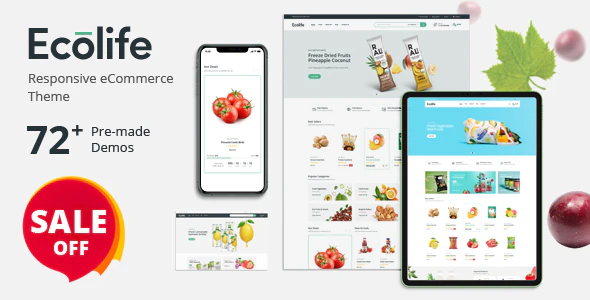 Ecolife Organic Food Cosmetic Multipurpose Prestashop Theme