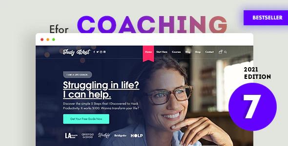 Efor Coaching Online Courses WordPress Theme