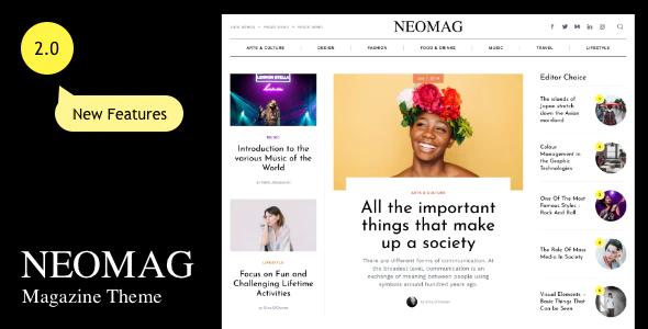 NeoMag News and Magazine WordPress Theme