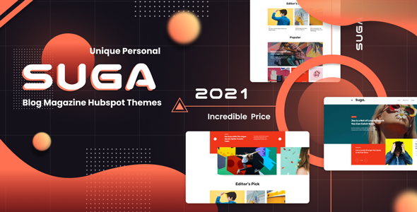 Suga Blog and Magazine Hubspot Theme