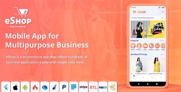 eShop Flutter E commerce Full App