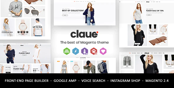 Claue Clean Minimal Magento 2 and 1 Theme