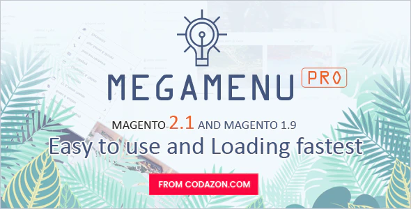 Codazon MEGA MENU Pro Drag Drop For Magento 1 Magento 2.x All in one