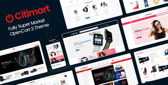 CitiMart Fully Supermarket OpenCart 3.0.x Theme