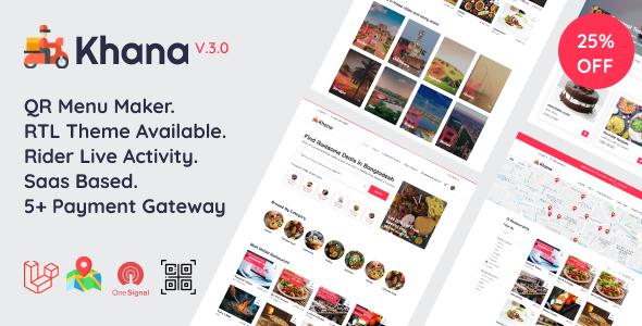 Khana Multi Resturant Food Ordering Restaurant Management With Saas And QR Menu Maker