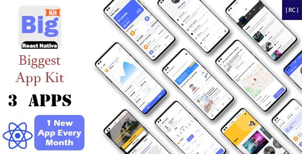 BigKit Biggest React Native App Template Kit 3 Apps