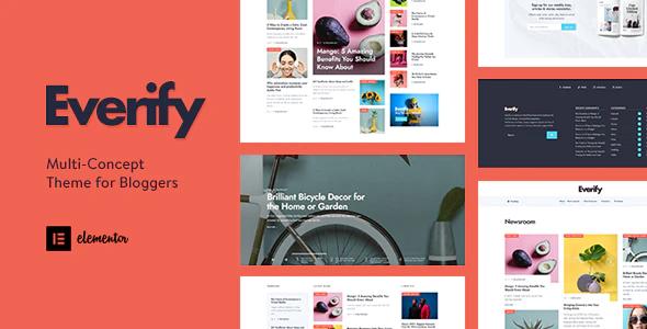 Everify Multi Concept Theme for Bloggers