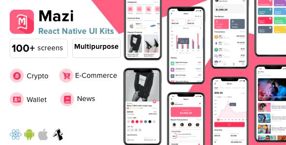 Mazi mobile React Native UI KIT Elements