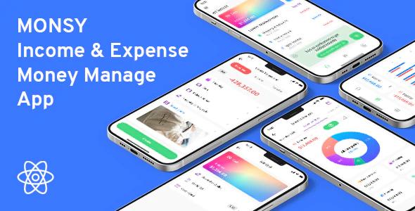 Monsy Money Manage React Native Full Application