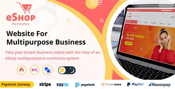 eShop Multipurpose Ecommerce Store Website