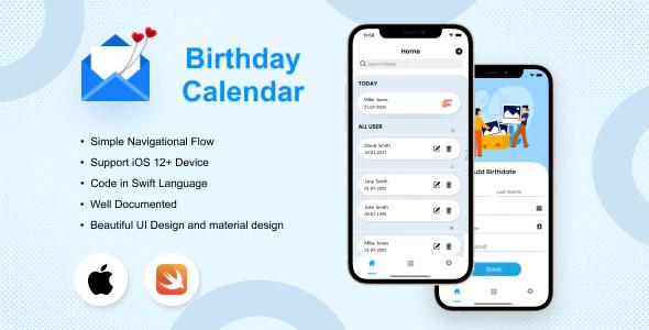 Birthday Calendar iOS Application