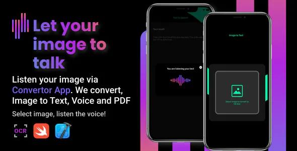 ConvertorApp iOS Image to Text Speech and PDF