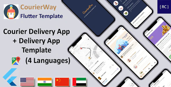 Courier Delivery Template Flutter 2 Apps User Delivery App Multi Language CourierWay