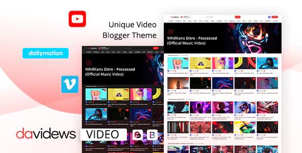 Davidews Video Blogger Theme